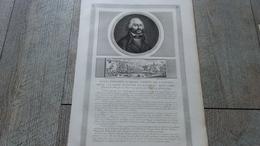 Notice Et Gravure De Adam Philippe Comte De Custine Député De L'assemblée Révolution Française - Historical Documents