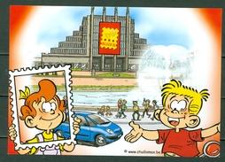 2006 - CP/PK  Groetjes Van Op De Boekenbeurs, Tot Binnenkort Op Belgica '06 (2 Scans) - Entiers Postaux