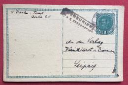 CARTOLINA POSTALE  AUSTRIA 8 H. DA  TRIEST TRIESTE   A LEIPZIG - LIPSIA  13/8/1917 CON CENSURA MILITARE - Repubblica Ceca