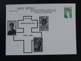 Entier Postal Carte Sabine De Gandon De Gaulle Seconde Guerre Mondiale 78 Les Essarts Le Roi 1980 - De Gaulle (Generale)