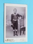 ENFANT - KIND - CHILD ( Joseph Louis ) Uniform ( CDV Photo L. KIRSCH Liège ) Anno 19?? - Voir Photo Pour Details !! - Zonder Classificatie