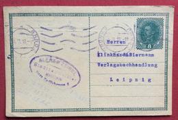 REPUBBLICA CECA  CARTOLINA POSTALE  AUSTRIA 8 H. DA  BRUNN BRNO   A LEIPZIG - LIPSIA  4/6/1918 - Repubblica Ceca