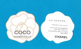 Cartes Parfumées  Carte  CHANEL COCO MADEMOISELLE  De  CHANEL  CARTE ASIATIQUE - Cartes Parfumées