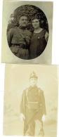 Foto/Photo. Militaria. Soldat & Fusil + Couple & Soldat . Lot De 2 Photos. - Guerre, Militaire