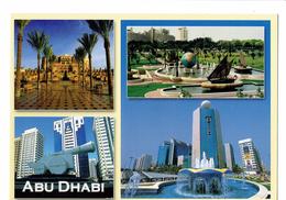 Cpm - DUBAI - United Arab Emirates - N°54 - Awni - Vues De ABU DHABI - Char Fontaine Voilier Mappemonde HILTON - Dubai