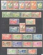 Guyane: Yvert 109/132*; 27 Valeurs - French Guiana (1886-1949)