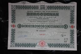 RFRA152 ACTION ETS BERGOUGNAN CLERMONT- FERRAND CAOUTCHOUC BRUT  2500 Francs X3 - Automobile