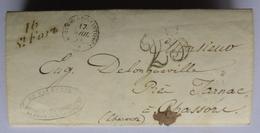 Lettre De 16 St Fort Sur Gironde à Chassors (Charente) Cachet Jarnac       La2 - 1801-1848: Precursori XIX