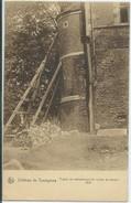 Courcelles-Château De Trazegnies-Travail De Redressement De La Tour Du Donjon-(SÉPIA) - Courcelles