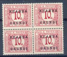 Ruanda - Urundi Ocb Nr : TX 10 ** MNH (zie Scan Als Voorbeeld) - Ruanda-Urundi