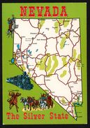 Carte Géographique Du Nevada - The Silver State - Locomotive - Calèche - ITALCARDS - Stati Uniti