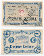 1914-1918 // C.D.C. // TROYES // 50 Centimes // ANNULE - Chambre De Commerce