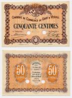 1914-1918 // C.D.C. // GRAY & VESOUL // 50 Centimes // SPECIMEN - Chamber Of Commerce