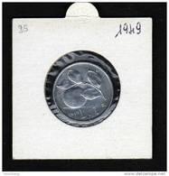 REPUBBLICA - 1949 - £.1, Arance, Bella Moneta In Condizioni FDC, RARA - 1 Lire