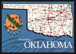 Carte Géographique De L'Oklahoma - Oklahoma City - Bartlesville - Mc Alester - Tulsa - PRAIRIE - Etats-Unis