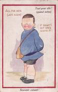 CPA Enfant Souvenir Cuisant Légende Française Et Anglaise Humour Illustrateur R. TUCK - Tuck, Raphael