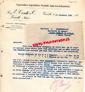 ITALIE - VERCELLI -  LETTRE RAG. E. CONTI & CIE- EXPORTATION IMPORTATION ¨PRODUITS AGRICOLES INDUSTRIELS- 1923 - Italie