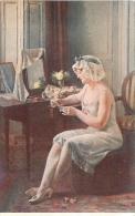 SALON DE PARIS  HENRY PERRAULT  LE BILLET DOUX  LUXOCHROMIE - Peintures & Tableaux
