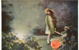 SALON DE PARIS  L. TESSIER  LE FEU DE BENGALE  LUXOCHROMIE - Peintures & Tableaux
