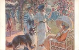 SALON DE PARIS  A.  BONAMY DANS LA ROSERAIE A BAGATELLE  LUXOCHROMIE - Peintures & Tableaux
