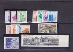 FRANCE  NON DENTELES  MNH**  COTE:230 EUROS - Imperforates