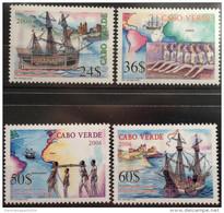 Cabo Verde 2006 - Rota Internacional De Escravos Slaves Sklaverei Esclavage Bateau Boot Ship Galère Slavery 4 Val. MNH - Cape Verde