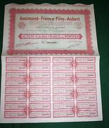 GAUMONT-FRANCE FILM-AUBERT ACTION A DE 100 FRANCS 1930 - Cinéma & Théatre