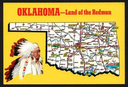 Carte Géographique De L'Oklahoma - Land Of The Redman - Indien - STORER'S Cards - Etats-Unis