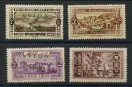 Grand Liban (1925) PA 9 AÌ€ 12 * (charniere) - Neufs