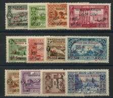 Grand Liban (1926) N 63 AÌ€ 74 * (charniere) - Great Comoro Island (1897-1912)