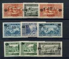 Grand Liban (1926) N 75 AÌ€ 83 * (charniere) - Great Comoro Island (1897-1912)