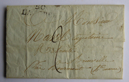 Lettre De 50 Langres  à Brainville Près Bourmont Haute Marne  Capitaine En Retraite Chevalier Légion D'Honneur    La4 - 1801-1848: Precursori XIX