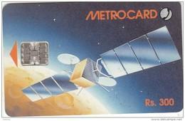 SRI LANKA(chip)- Satellite, Metrocard Rs.300, Used