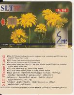 SRI LANKA(chip)- Flowers/Marigold, Sri Lanka Telecom Rs.800, Used - Sri Lanka (Ceylon)