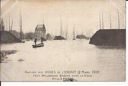 Willebroek: Rupture Des Diques De L' Escaut 12 Mars 1906  Petit Willebroek Brèche Dans La Digue - Willebroek