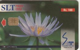 SRI LANKA(chip)- Flowers/Water Lily, Sri Lanka Telecom Rs.100, Used - Sri Lanka (Ceylon)