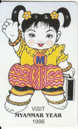 MYANMAR - Visit Myanmar Year 1996(reverse A-100 Units), Mint - Myanmar (Burma)