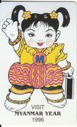MYANMAR - Visit Myanmar Year 1996(reverse A-100 Units), Mint