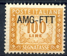 Trieste Zona A Tasse 1945 - 54 N. 27 L. 100 Ocra MNH Cat. € 12 - 7. Triest