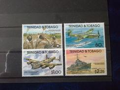 Trinidad & Tobago 1991 50th Anniv Of Second World War SG/NO 803/6 MNH - Trinidad & Tobago (1962-...)