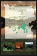 Carte Géographique De Yellowstone - National Park Wyoming - Bison - Cerf - Élan - THOMAS - Yellowstone