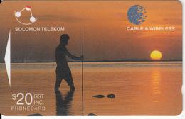 SOLOMON ISL.(GPT) - Fisherman Awaiting Sunset, CN : 05SDA, Used