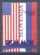 Slovenia Slovenie Slowenien 2001 Mint MNH **: National Flags Of USA And Russia; Stars; Bush Putin Meeting In Ljubljana - Stamps