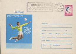 VOLLEY-BALL, Gymnastique    Entier Postal + Cachet Special J.O. Montreal ´76. Roumanie / Romania