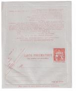 France, Carte Lettre Entier PNEUMATIQUE CLPP 2619 , 1 F 60 Rouge Chaplain , Neuve ** , TB