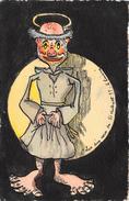 Illustrateur L. LAISNE - Fantaisie - Humour - Les Dix Cors De St Hubert  (carte Peinte à La Main) - Ilustradores & Fotógrafos