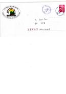 Enveloppe Avec Timbre Cagou Et Cachet Marché Du Café De 2003. Unique, Rare. - Prêt-à-poster