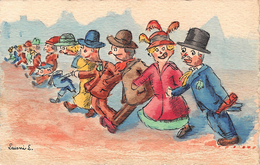 Illustrateur L. LAISNE - Fantaisie - Humour   (carte Peinte à La Main) - Otros Ilustradores