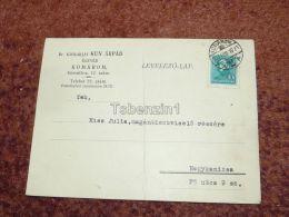 Komárom Komarno Dr. Kismarjai Kun Árpád Ügyvéd Slovakia Nagykanizsa Hungary Postcard Carte Postale Ansichtskarten 1937 - Eslovaquia