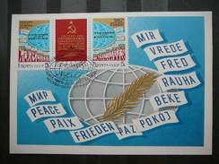 USSR Russia Sowjetunion 1x Card 1984 Maximum Card # Peace Policy. Paix. Frieden - 1923-1991 UdSSR